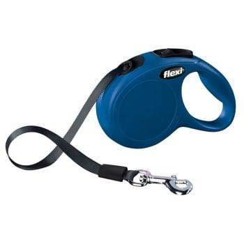 FLEXI Classic XS Cord, lesă retractabilă câini, 12kg, bandă, 3m, albastru