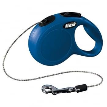 FLEXI Classic XS, lesă retractabilă câini, 8kg, șnur, 3m, albastru