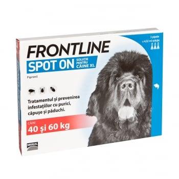 FRONTLINE Spot-On, soluție antiparazitară, câini 40-60kg, 3 pipete