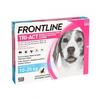 FRONTLINE Tri-Act, spot-on, soluție antiparazitară, câini 10-20kg, 3 pipete