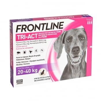 FRONTLINE Tri-Act, spot-on, soluție antiparazitară, câini 20-40kg, 3 pipete