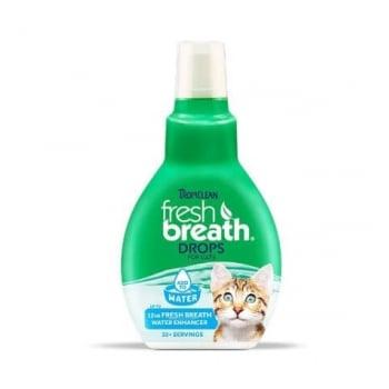 Fresh Breath Drops TropiClean For Cats, 65 ml imagine