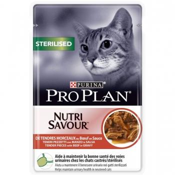 Hrana Umeda Pisici Pro Plan Sterilised Vita, 24x85g imagine