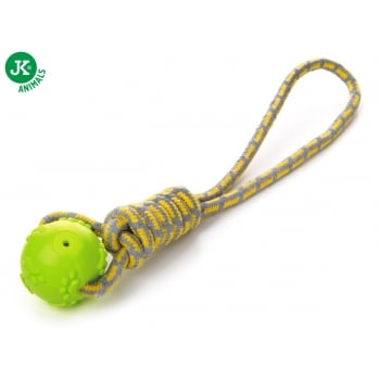 Jk Animals Jucarie Caine Minge cu Sfoara TPR Verde 42cm imagine