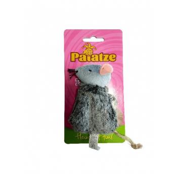 Jucarie Paiatze Cat Soarece Gri, 10x5 cm imagine