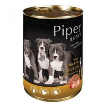 Pachet Piper Junior cu Pipote de Pui si Orez Brun, 6x400 g