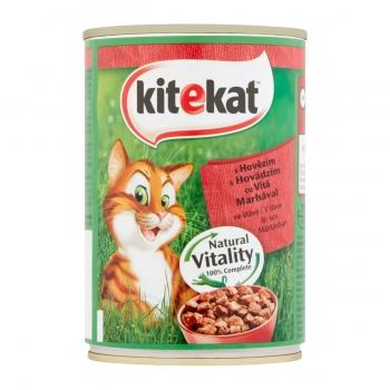 KITEKAT, Vită, conservă hrană umedă pisici, (în sos), 400g
