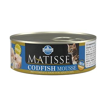 Matisse Cat Mousse Codfish Conserva, 85 g