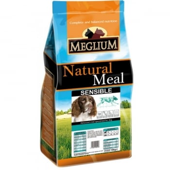 Meglium Dog Sensibile, Miel Si Orez, 15 kg
