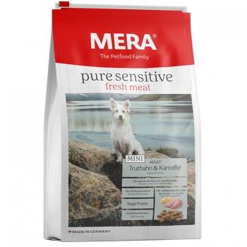 Mera Pure Fresh Meat Adult Mini Curcan&Cartof, 4 Kg imagine