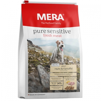 Mera Pure Fresh Meat Adult Mini Pui&Cartof, 4 Kg imagine