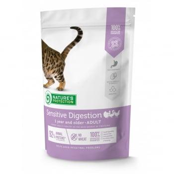 NATURES PROTECTION Intestinal Health, Pește, pachet economic hrană umedă fără cereale pisici, sensibilități digestive, 100g x 22