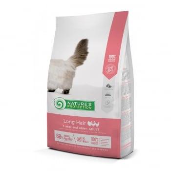 NATURES PROTECTION Long Hair, Pasăre, hrană uscată pisici cu păr lung, 7kg