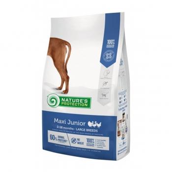 NATURES PROTECTION Maxi Junior, Pasăre, pachet economic hrană uscată câini juniori, 12kg x 2