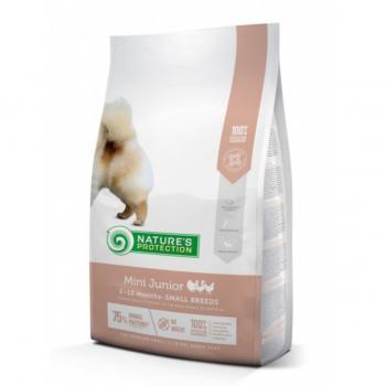 NATURES PROTECTION Mini Junior, Pasăre, hrană uscată câini juniori, 7.5kg