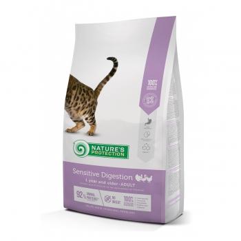 NATURES PROTECTION Sensitive Digestion, Pasăre, hrană uscată pisici, sensibilități digestive, 7kg