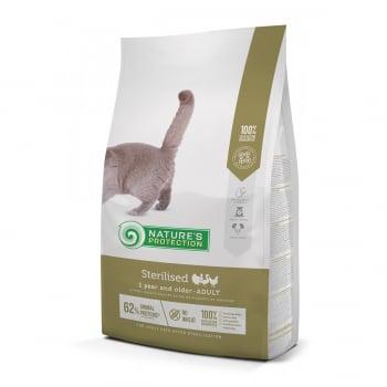 NATURES PROTECTION Sterilised, Pasăre, hrană uscată pisici sterilizate, 7kg