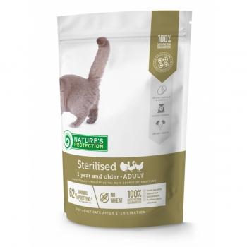 NATURES PROTECTION Weight Control, Pui și Somon, pachet economic hrană umedă fără cereale pisici, controlul greutății, 100g x 22