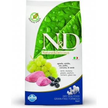 N&D Grain Free Adult Mini Miel si Afine 7 kg