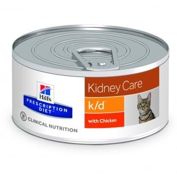 Hill's PD Feline k/d - Afectiuni Renale, 156 g