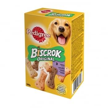 PEDIGREE Biscrok Multi Mix, recompense câini, biscuiți, Pui, Vită și Miel, 500g
