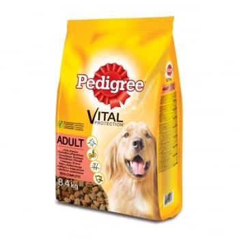 PEDIGREE Vital Protection Adult, Vită și Pasăre, pachet economic hrană uscată câini, 8.4kg x 2