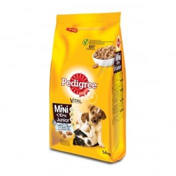 PEDIGREE Vital Protection Junior Mini, Pui și Orez, hrană uscată câini junior, 1.4kg