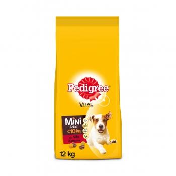 PEDIGREE Vital Protection Mini Adult, Vită și Legume, pachet economic hrană uscată câini, 12kg x 2