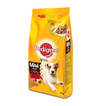 PEDIGREE Vital Protection Mini Adult, Vită și Legume, hrană uscată câini, 2kg