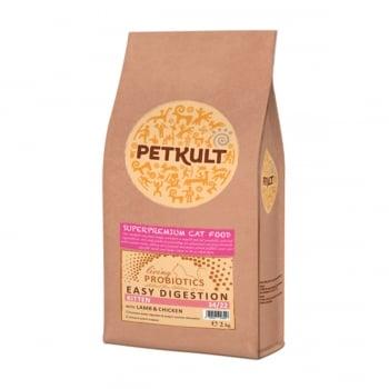 PETKULT Easy Digestion Kitten 34/22, Miel și Pui, hrană uscată pisici junior, 2kg