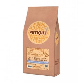 PETKULT Probiotics Easy Digestion & Hypoallergenic Starter & Junior 28/18, Rață, hrană uscată câini, 8kg