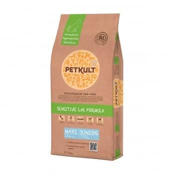 PETKULT Sensitive L&R Maxi Junior, Miel şi Orez, hrană uscată câini junior, 12kg