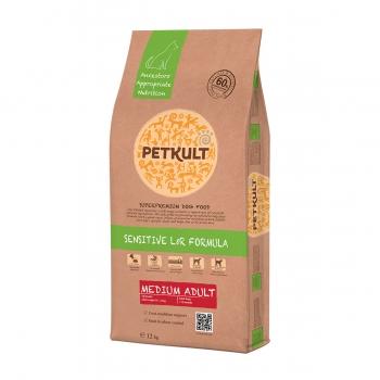 PETKULT Sensitive L&R Medium Adult, Miel şi Orez, hrană uscată câini, 12kg