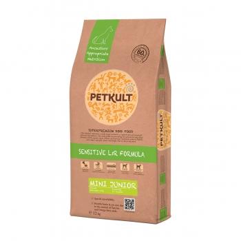 PETKULT Sensitive L&R Mini Junior, Miel şi Orez, pachet economic hrană uscată câini junior, 12kg x 2