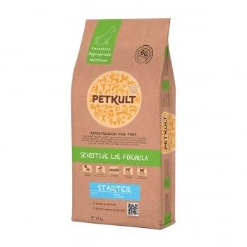PETKULT Sensitive L&R Starter, Miel şi Orez, hrană uscată câini, 12kg