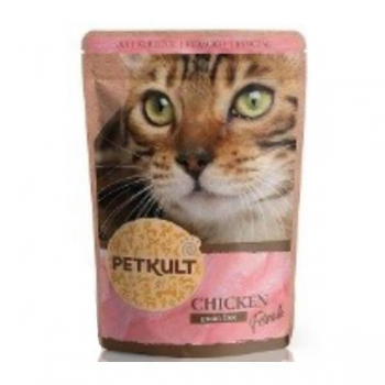 Petkult Cat Adult cu Pui, 10 x 100 g imagine