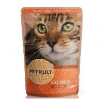 Petkult Cat Adult cu Somon, 10 x 100 g imagine