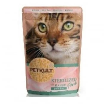 Petkult Cat Sterilized cu Iepure, 10 x 100 g imagine