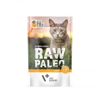 Raw Paleo Sterilised Cat Curcan, 100 g imagine
