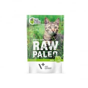 Raw Paleo Sterilised Cat Vanat, 100 g imagine