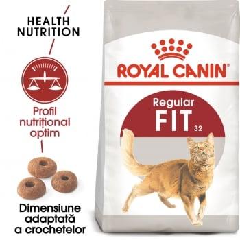 Royal Canin Fit32 Adult, hrană uscată pisici, activitate fizică moderată, 400g