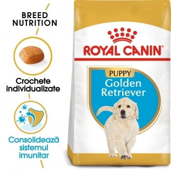Royal Canin Golden Retriever Puppy, pachet economic hrană uscată câini junior, 12kg x 2
