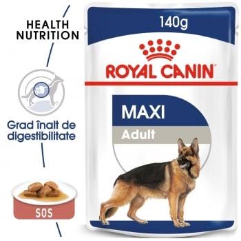 Royal Canin Maxi Adult, plic hrană umedă câini, (în sos), 140g
