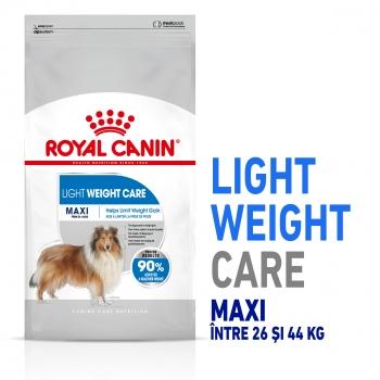 Royal Canin Maxi Light Weight Care Adult, pachet economic hrană uscată câini, managementul greutății, 10kg x 2 imagine