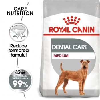 Royal Canin Medium Dental Care Adult, hrană uscată câini, reducerea formării tartrului, 10kg