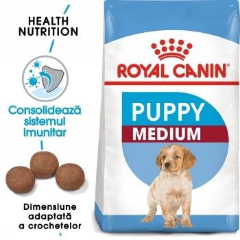 Pachet 2 x Royal Canin Medium Puppy, 15 kg
