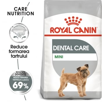 Royal Canin Mini Dental Care Adult, hrană uscată câini, reducerea formării tartrului, 1kg