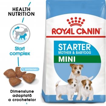 Royal Canin Mini Starter Mother & BabyDog, mama și puiul, hrană uscată câini, 8.5kg