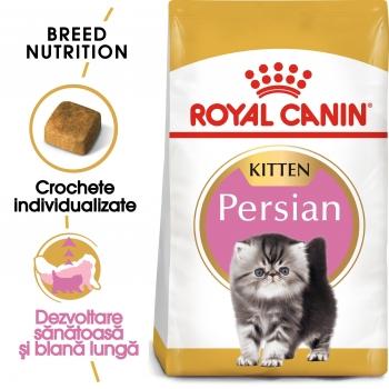 Royal Canin Persian Kitten, pachet economic hrană uscată pisici junior, 2kg x 2