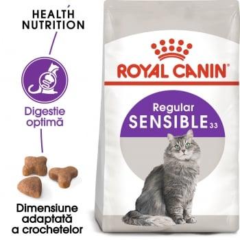 Royal Canin Sensible Adult, hrană uscată pisici, digestie optimă, 4kg